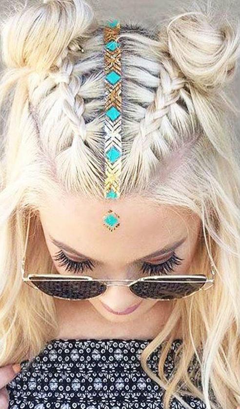 stylish summer hairstyle idea