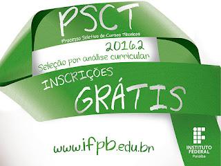 IFPB/PSCT abre inscrições até 15 de julho para 350 vagas