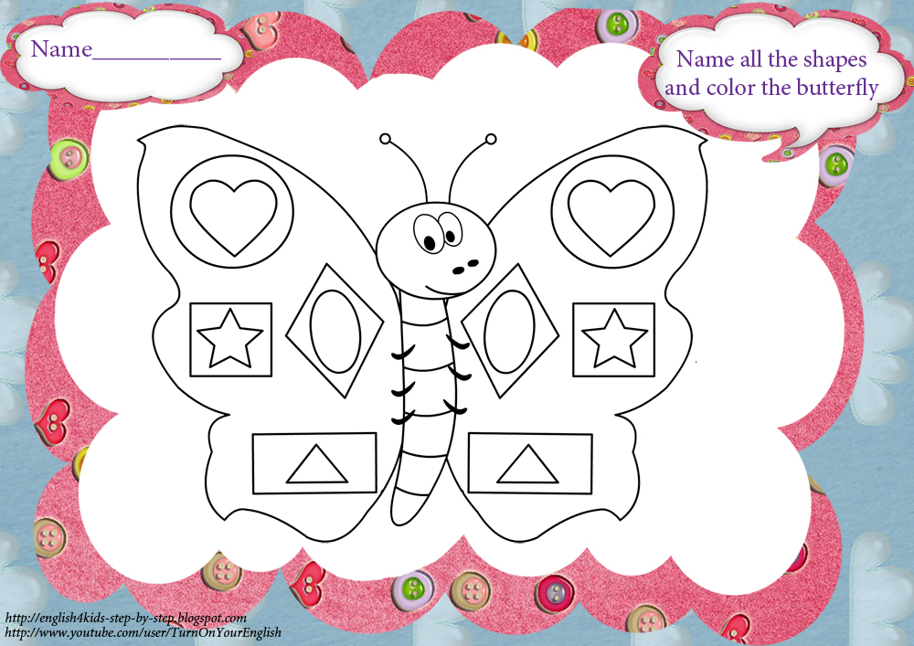Butterfly Song (+ Coloring Pages And Worksheets
