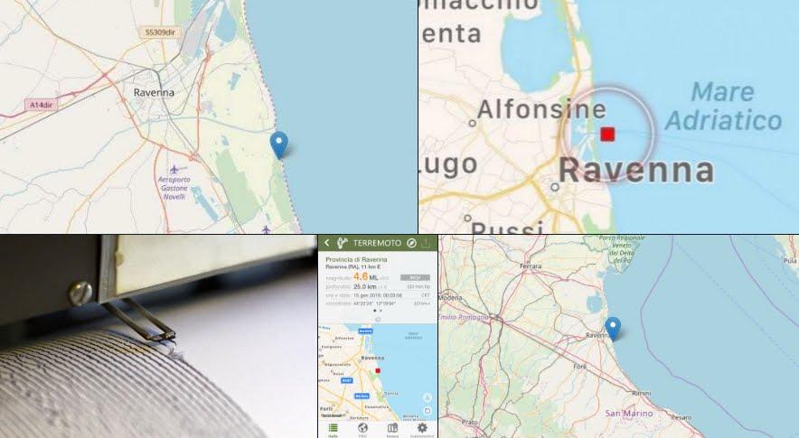 """""""Molta paura e pochi danni"""": Sentito Terremoto Ravenna M4,6 nella notte con replica."""
