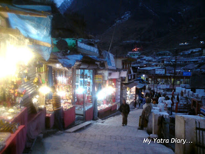 The Bazaars of Badrinath selling various souvenirs in Garhwal Himalayas, Uttarakhand