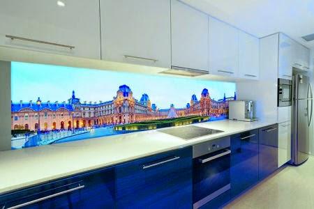 Glad Keuken Achterwand : Een glazen achterwand in de keuken wonen