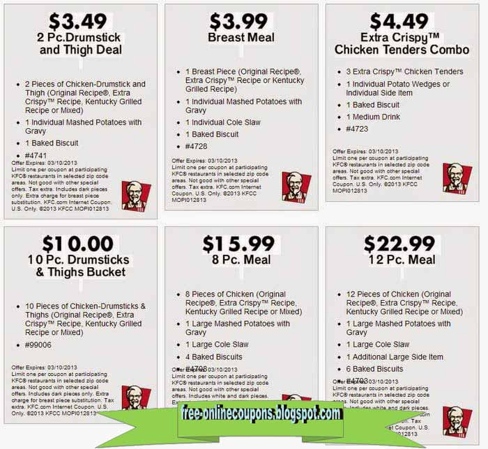 This is a photo of Amazing Kfc Coupons Nov 2020