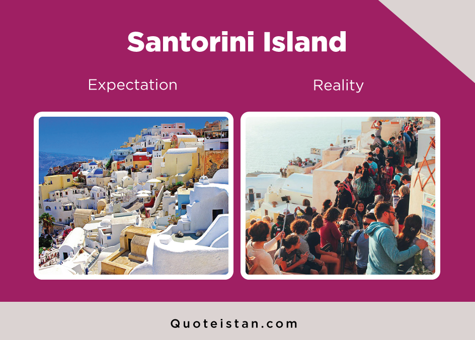 Expectation Vs Reality: Santorini Island