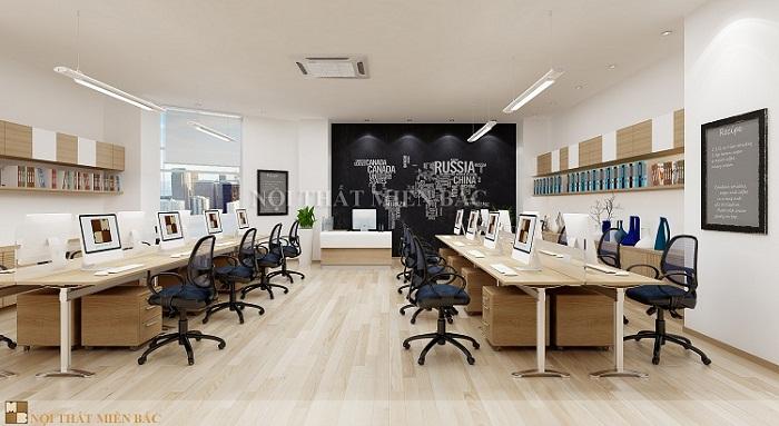 Sử dụng nội thất văn phòng đơn giản