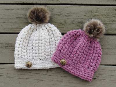 Crochet hat pattern using Puff stitches