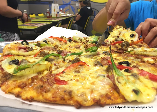 New York-style pizza in Dubai