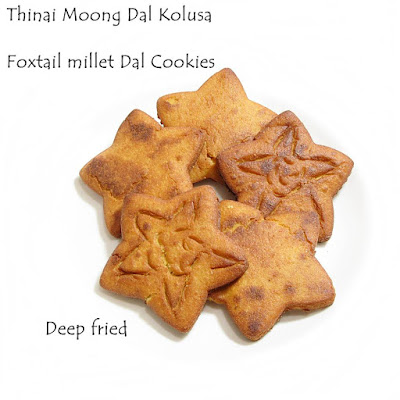 foxtail millet moong dal cookies