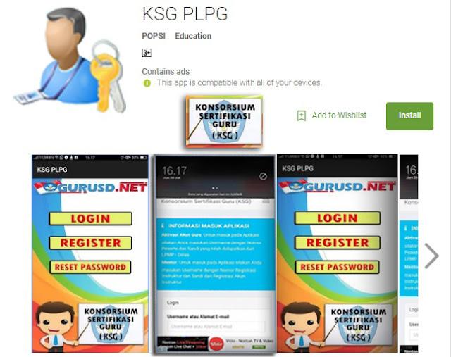 APLIKASI  Konsorium Sertifikasi guru KSG PLPG Tahun 2017