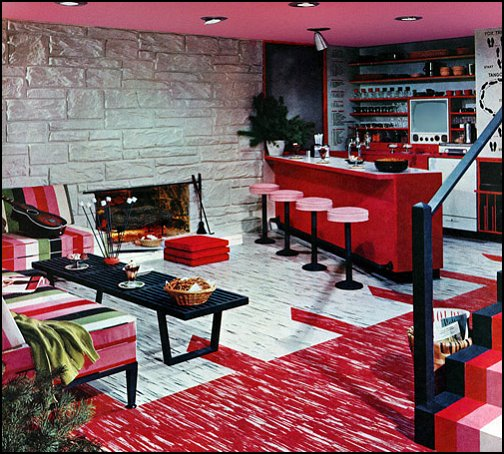 50s bedroom ideas - 50s theme decor - 1950s retro decorating style - 50s  diner -