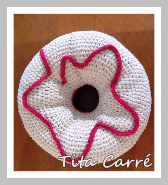 Almofada Donut  com Marshmallow