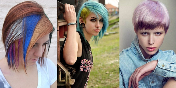 Multi-colored short hairstyles! - The HairCut Web