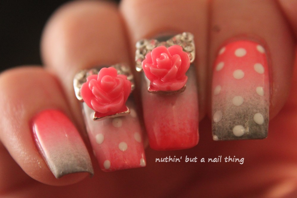 nail art flower design ideas