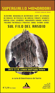 """Supergiallo Mondadori - Sul filo del rasoio, contiene il racconto di A.C. Cappi """"Il grande sceneggiatore"""", con protagonista Padre Stanislawsky."""