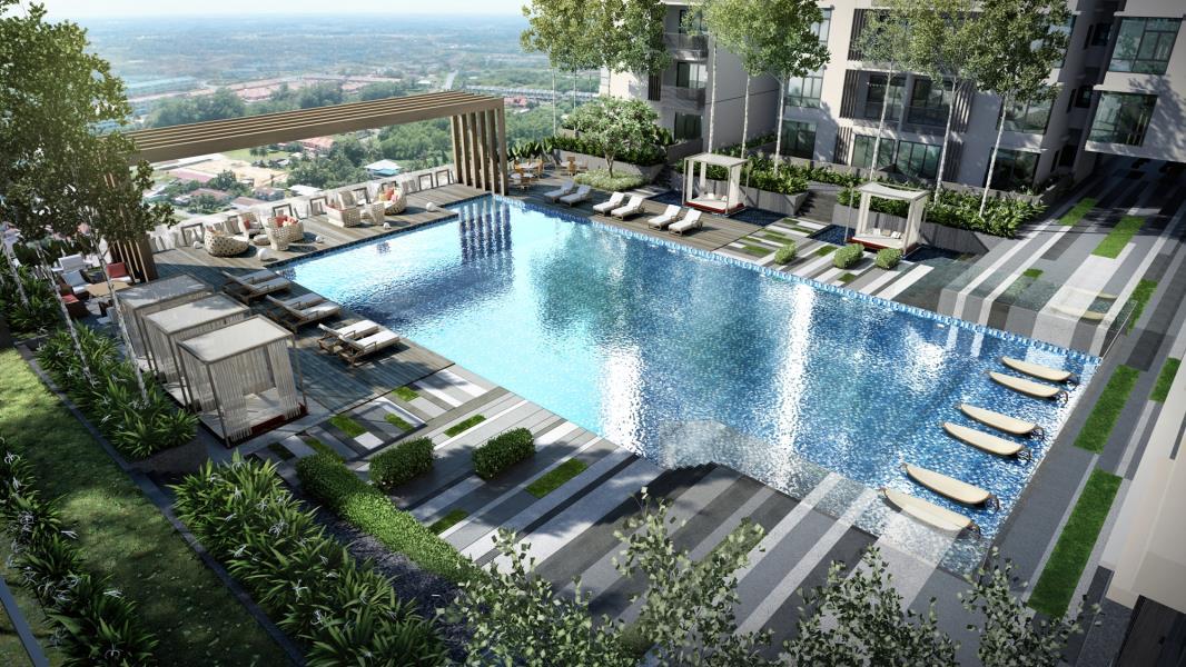 Bể Bơi Ngoài Trời Chung Cư FLC