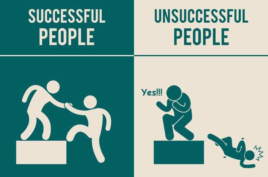 成功不是靠爸!7張圖,告訴你成功者與失敗者的差異