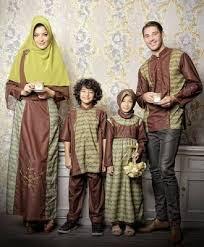 Model Baju Muslim Sarimbit Keluarga Modern