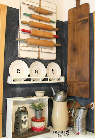 Plates and Plate Rack Upcycle