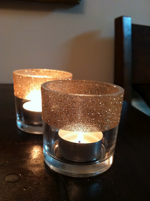 Shimmer Candle Lamp Clear
