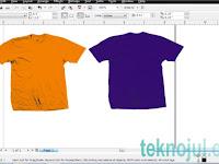 Cara Desain Baju Kaos ga sampai 5 menit di coreldraw