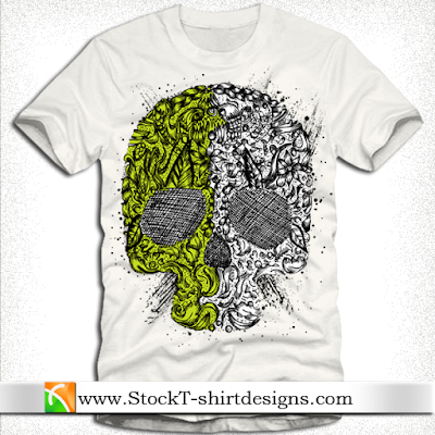 T-shirt Designs Tangkorak Illustration - Free Vector
