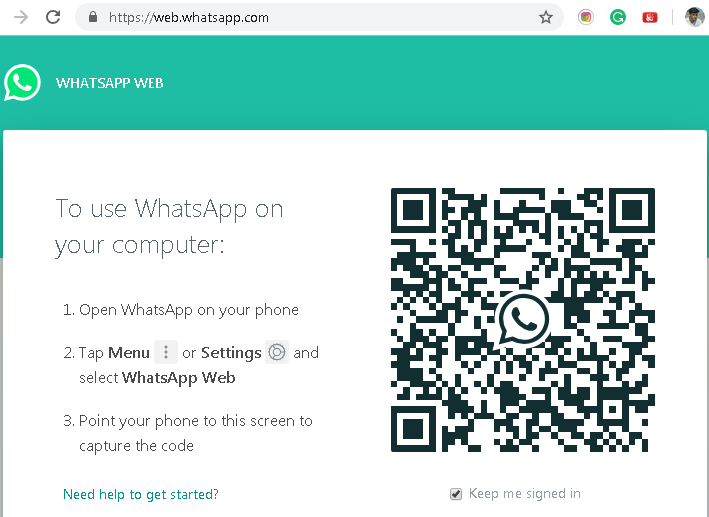 Use WhatsApp on PC using WhatsApp Web
