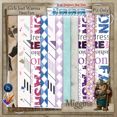 Scrap Designers Blog Train.....Girls Just Wanna Have Fun