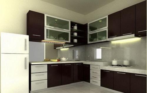 Desain ruangan dapur interior rumah ala restoran