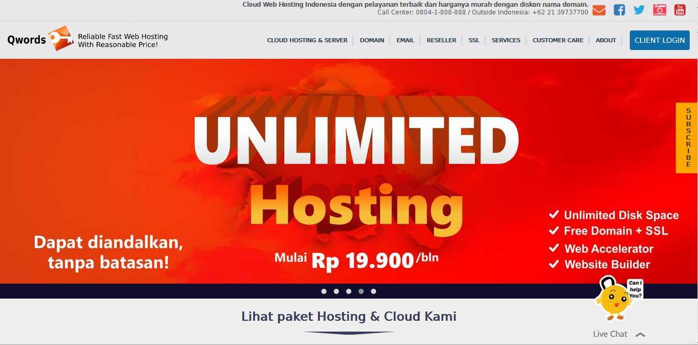 Qwords Layanan Cloud Web Host Terbaik