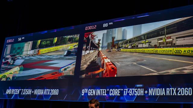 Intel 也在現場進行遊戲進行的 FPS 效能比較
