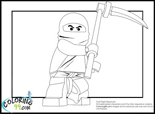 LEGO Ninjago Cole Coloring Pages | Team colors
