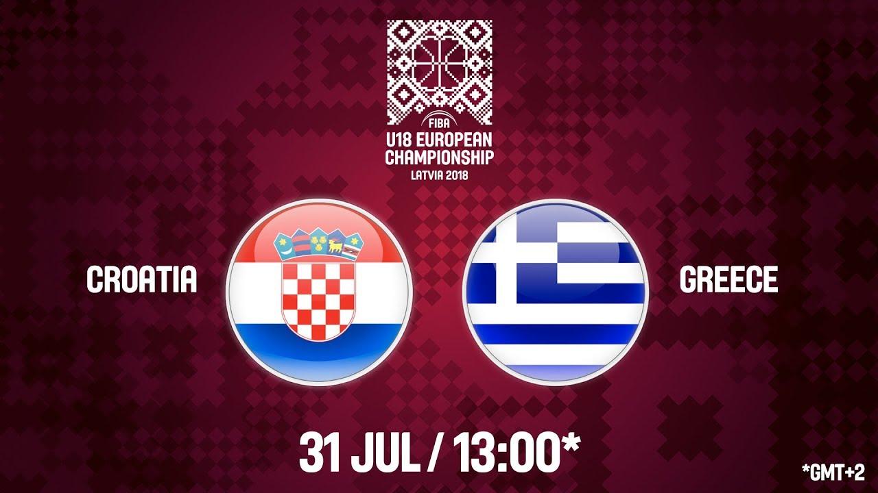 Κροατία - Ελλάδα ζωντανή μετάδοση στις 14:00 από την Λετονία, για το Ευρωπαϊκό Εφήβων