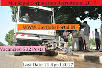 Municipal Corporation Recruitment 2017– 532 Safaikaramcharies
