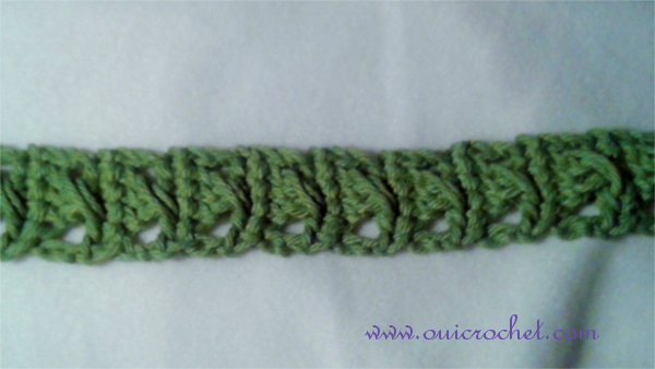 Crochet, Crochet Accessories, Crochet Headband, Crochet Tie Headband, Free Crochet Pattern, Crossed Stitch Tie Headband,