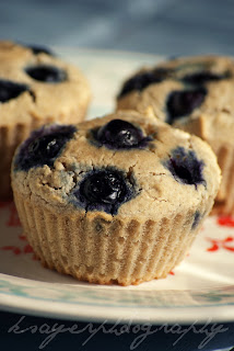 Low Fat Blueberry Ricotta Muffins
