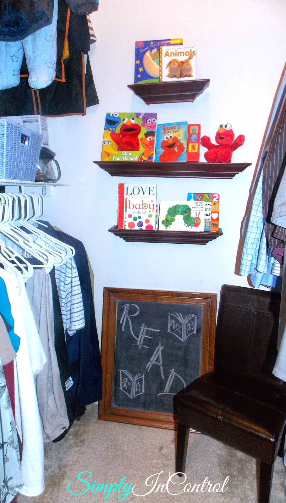 Simply In Control Toddler Reading Nook In Closet