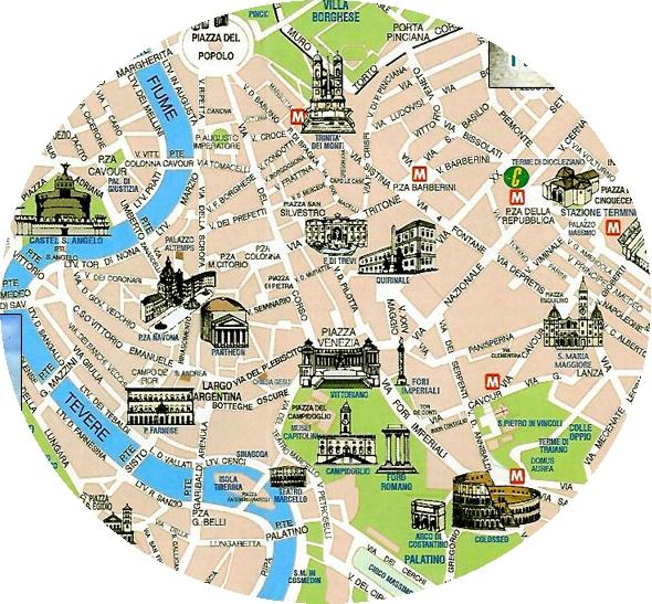 map rome city centre