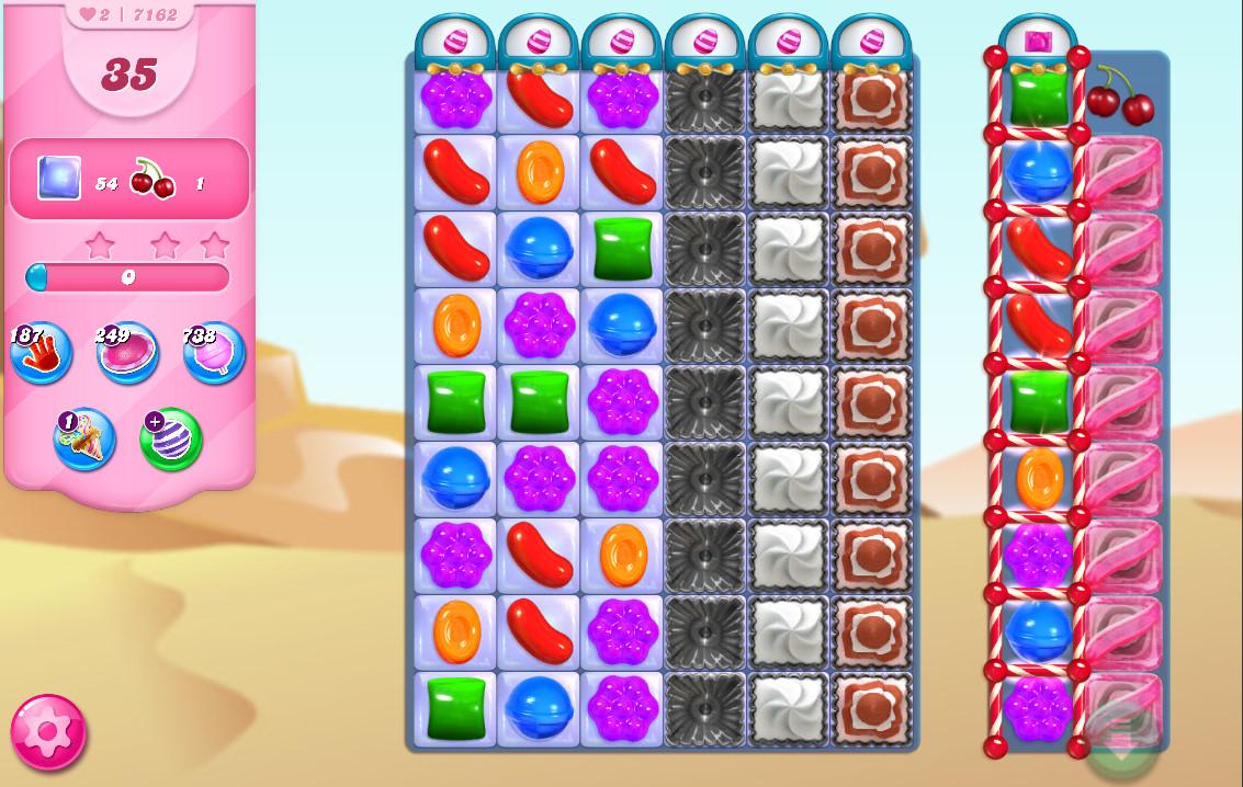 Candy Crush Saga level 7162