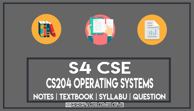 ktu cse Operating Systems