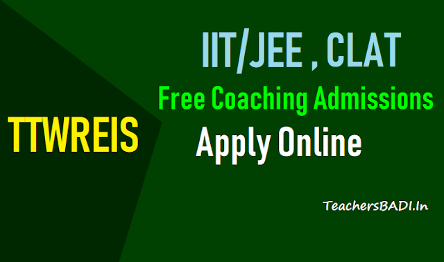 ttwreis clat iit/jee free coaching admissions 2018,ttwreis clat iit/jee long term free coaching 2018 admissions,ttwreis clat iit/jee long term free coaching 2018 admissions results,online application form