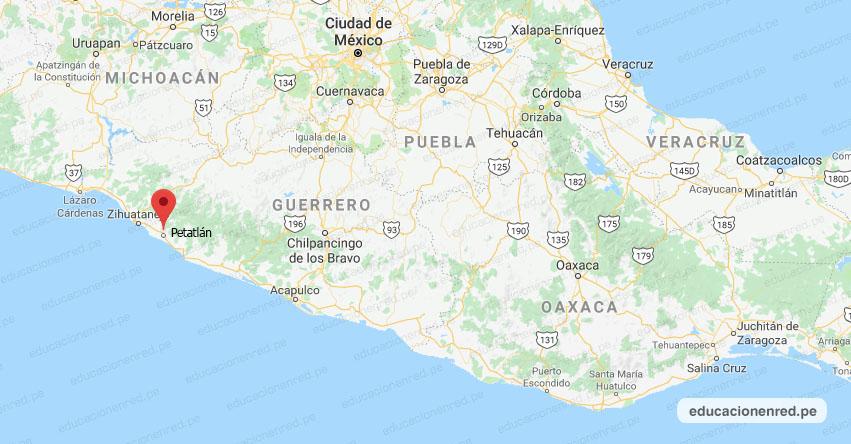 Temblor en México de Magnitud 4.0 (Hoy Viernes 10 Julio 2020) Sismo - Epicentro - Petatlán - Guerrero - GRO. - SSN - www.ssn.unam.mx