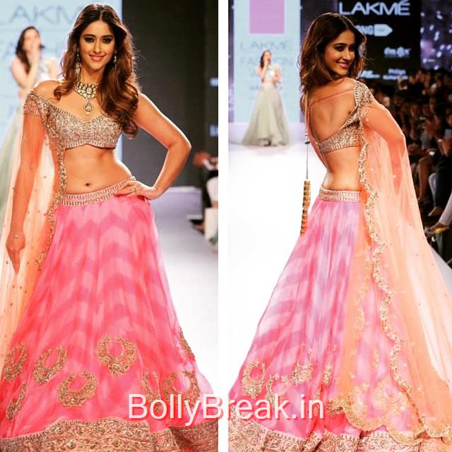 g👌 ileana dcruz , lakme fashion week , anus r ree reddy , summer 2015 , resort , catwalk , bollywood style ,, ILeana DCruz in Anushree Reddy Lehenga Choli at Lakme Fashion Week