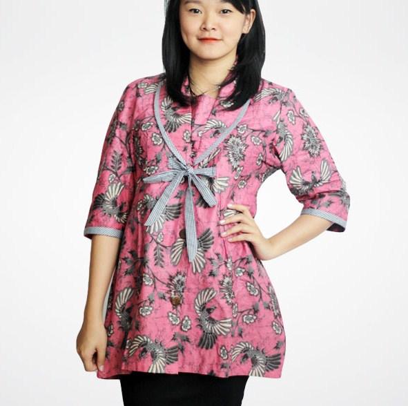 Model Baju Batik Wanita Gemuk6