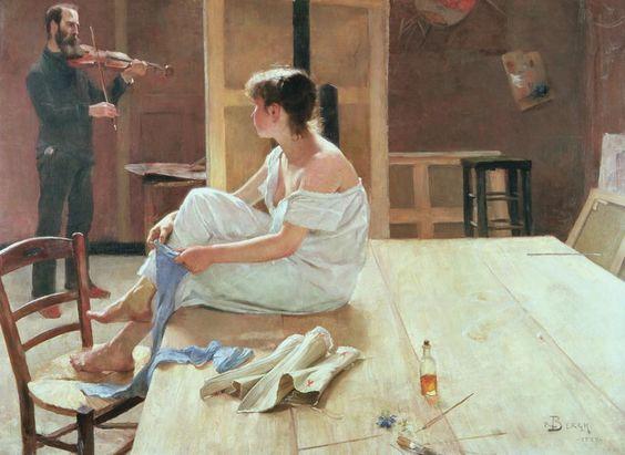 Richard Bergh - Tras el posado - 1884