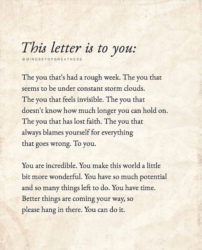 Positive Vibes - This Letter Is To You!