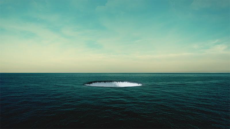 Skim Hole,Water, ocean, Cédric Gilbert, Photographie, Photomanipulation, wirhpool