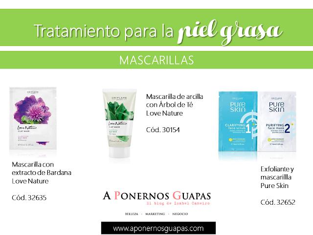 Tratamiento para la piel grasa Mascarilla Oriflame A Ponernos Guapas
