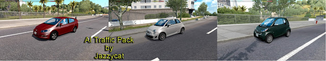 ats ai traffic pack v5.8 screenshots 1, Honda Insight, Fiat 500, Smart Fortwo