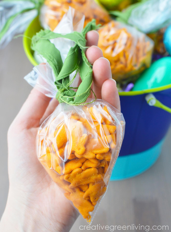 Healthy easter basket idea cheddar bunny carrot shaped treat bags easy toddler snack ideas for easter perfect for class parties when you cant negle Choice Image