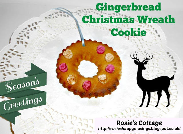 Gingerbread Christmas Wreath Cookies - so easy to make!